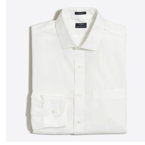 J. Crew Thompson Wrinkle Free WhiteDress Shirt NWT